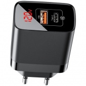 СЗУ Baseus Mirror Lake PPS Digital Display Quick Charger A+C (CCJMHC-A01) Black фото