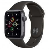 Apple Watch SE 40mm Space Gray Aluminum Black Sport Band РСТ фото